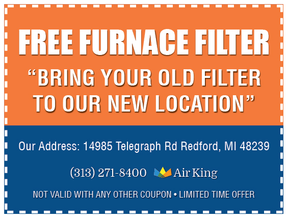 Free Furnace Filter New Location Coupon